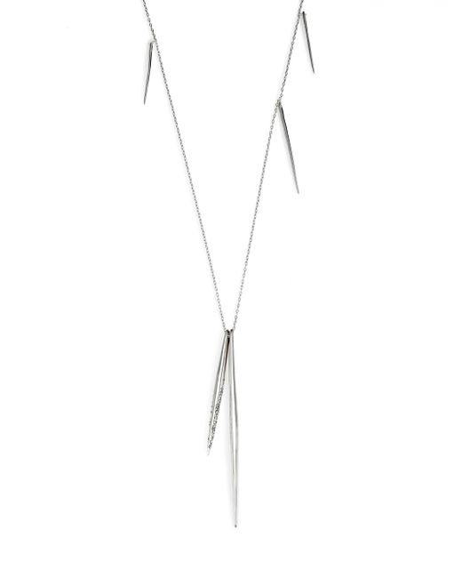 Alexis Bittar | Metallic Miss Havisham Crystal Long Spear Necklace/silvertone | Lyst