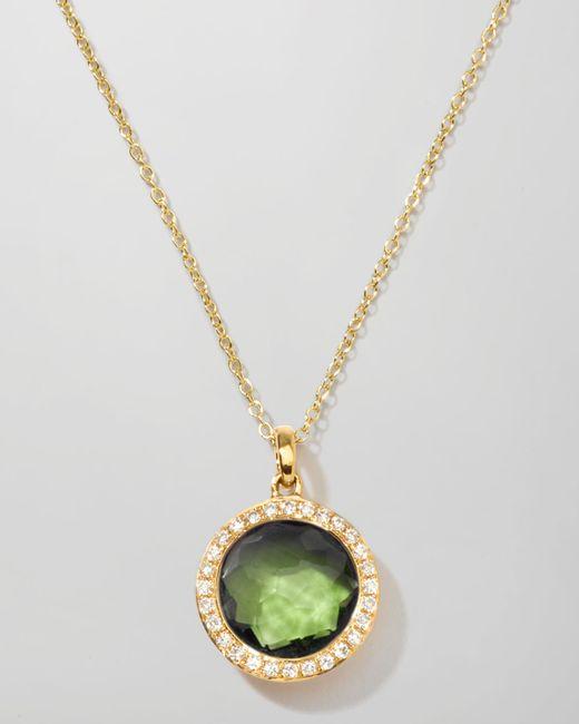 Ippolita | Metallic Rock Candy 18k Gold Mini Lollipop Necklace In Peridot & Diamond | Lyst