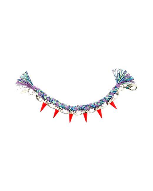 Joomi Lim | Multicolor Woven And Fluro Spike Bracelet | Lyst