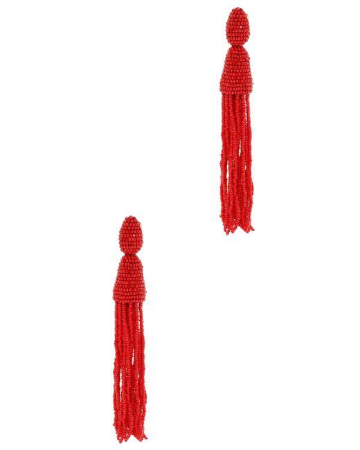 Oscar de la Renta | Orange Silk Tasseled Drop Earrings | Lyst