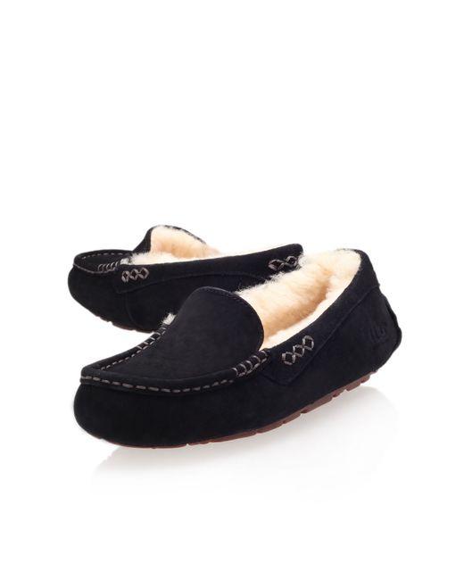 Ugg Ansley Moccasin Loafer Slippers In Black Lyst