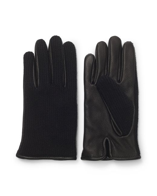 Club Monaco | Black Half-knit Leather Glove for Men | Lyst