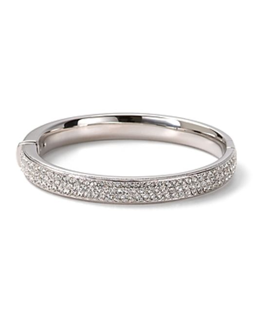 Nadri | Metallic Pave Flat Banded Bangle | Lyst