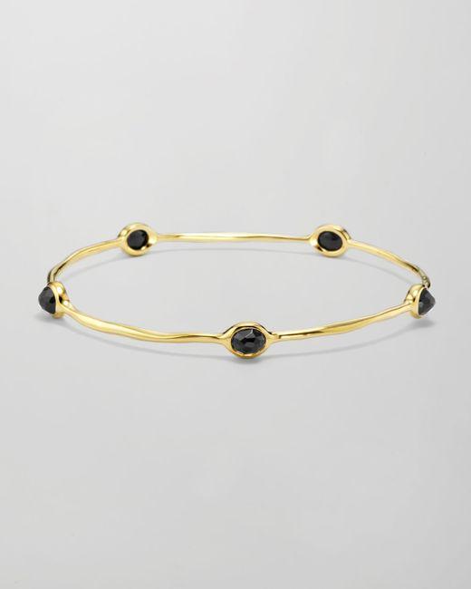 Ippolita   Metallic 18k Gold Rock Candy 5-stone Lollipop Bangle In Black Onyx   Lyst