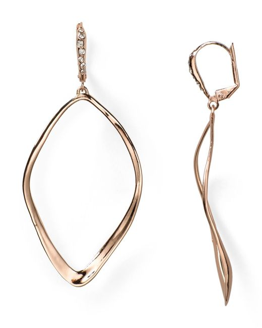 Alexis Bittar | Pink Miss Havisham Sculpted Aura Teardrop Leverback Earrings | Lyst