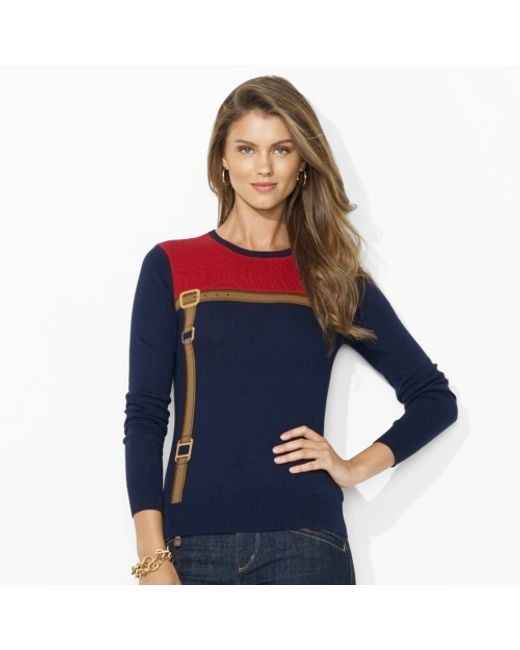 Lauren by Ralph Lauren | Blue Ombre Ribbed Knit Sweater | Lyst