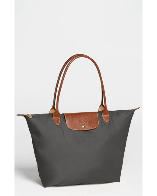 Longchamp | Metallic 'large Le Pliage' Tote | Lyst