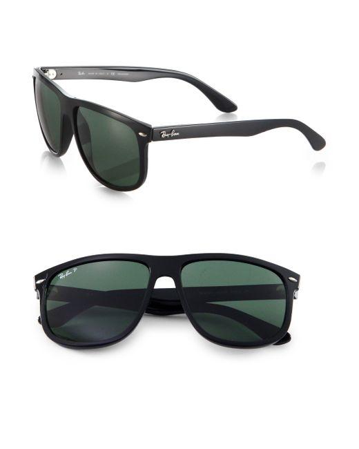 Ray-Ban | Black Flat Top Boyfriend Wayfarer Square Sunglasses | Lyst