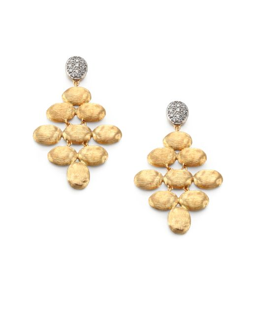 Marco Bicego | Metallic Siviglia Diamond & 18k Yellow Gold Chandelier Earrings | Lyst