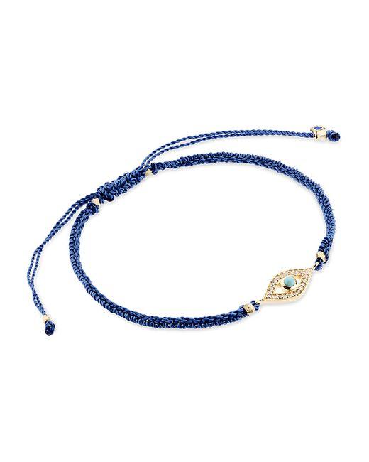 Astley Clarke | Blue Evil Eye Woven Friendship Bracelet | Lyst