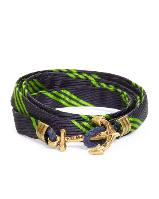 Brooks Brothers | Green Wrap Bracelet By Kiel James Patrick for Men | Lyst