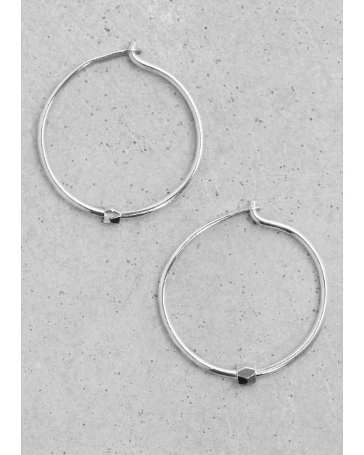 & Other Stories | Metallic Small Hoop Earrings | Lyst