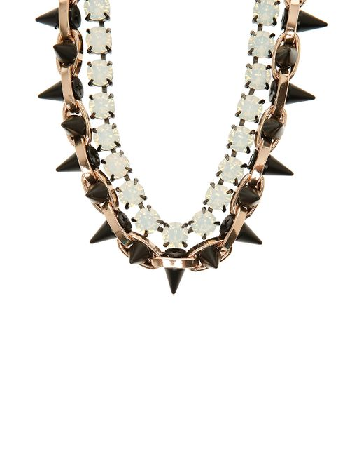Joomi Lim | Multicolor Exclusive Opal And Spike Embellished Necklace | Lyst