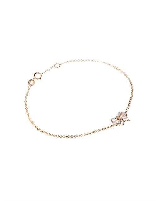 Matchstick | Metallic Diamond & Yellow-Gold Butterfly Bracelet | Lyst