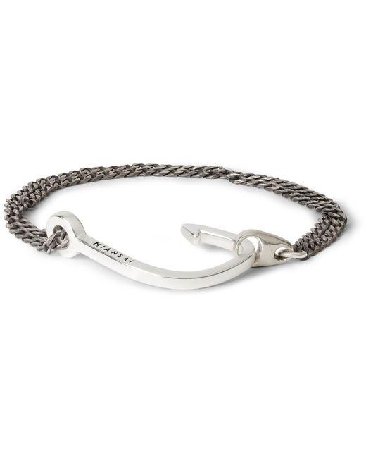 Miansai | Metallic Men's Anchor Silver Chain Bracelet for Men | Lyst