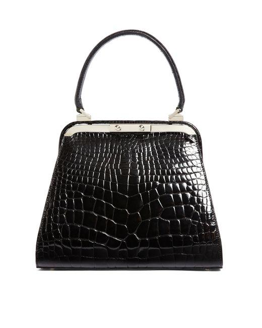Brooks Brothers | Black Alligator Handbag | Lyst