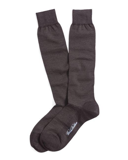 Brooks Brothers | Brown Merino Wool Mini Dot Over-the-calf Socks for Men | Lyst