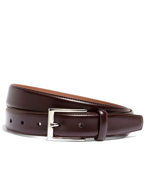 Brooks Brothers | Purple Silver Buckle Leather Dress Belt for Men | Lyst