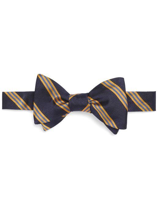 Brooks Brothers | Blue Mini Bb#1 Stripe Bow Tie for Men | Lyst
