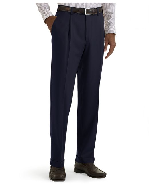 Brooks Brothers | Blue Regent Fit Pleat-front Classic Gabardine Trousers for Men | Lyst