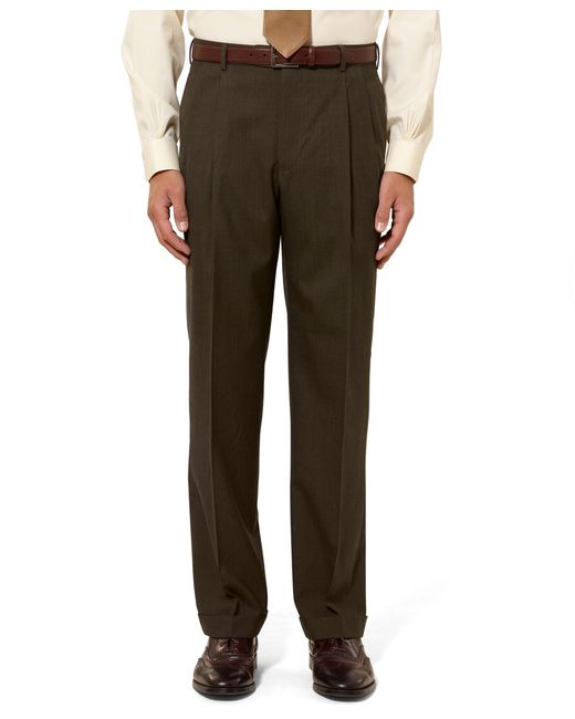 Brooks Brothers | Green Madison Fit Pleat-front Tic Trousers for Men | Lyst