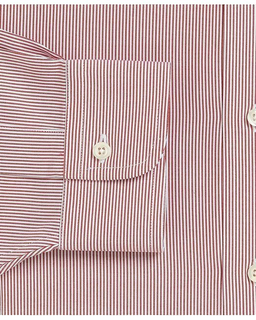 Brooks Brothers | Red Traditional Fit Stripe Dress Shirt for Men | Lyst