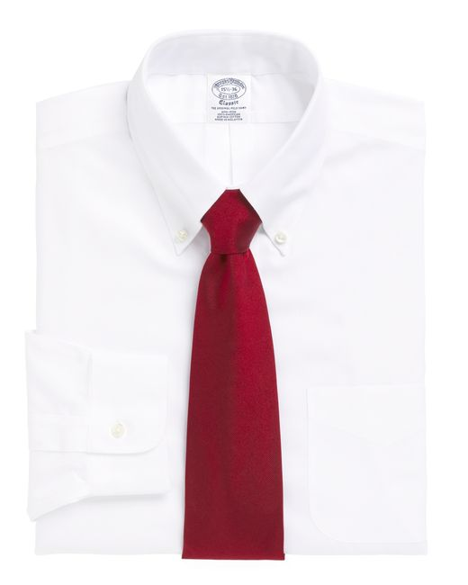 Brooks Brothers | White Non-iron Regent Fit Button-down Collar Dress Shirt for Men | Lyst