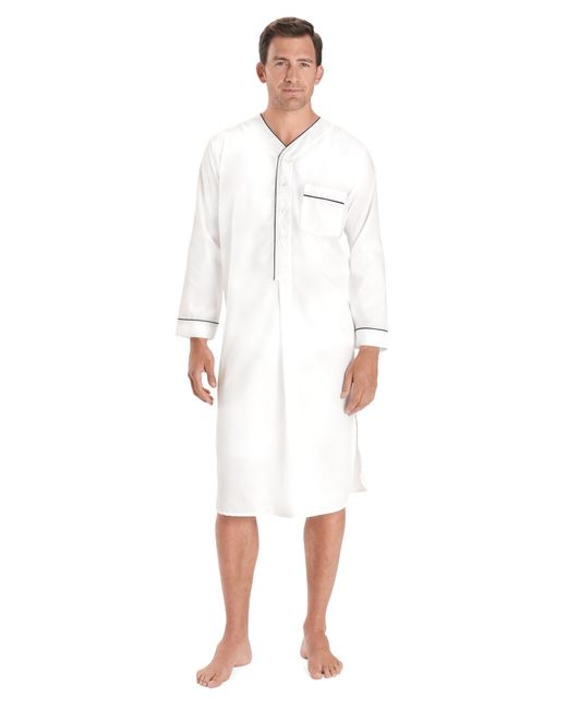 Brooks Brothers | White Wrinkle-resistant Broadcloth Nightshirt for Men | Lyst