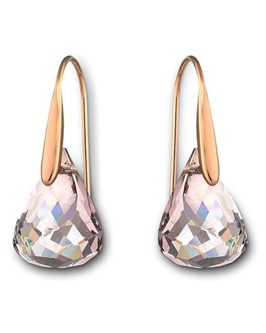 Swarovski | Pink Luna Pierced Earrings | Lyst
