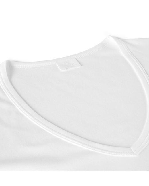 Sunspel   White Men's Sea Island Cotton Low V-neck T-shirt for Men   Lyst