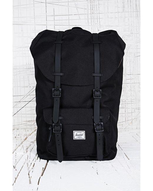 df4c58732aa2 Herschel Supply Co. - Black . Little America Laptop Backpack for Men - Lyst  ...