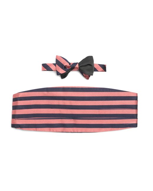 Brooks Brothers | Blue The Social Primer Reversible Bow Tie With Cummerbund for Men | Lyst