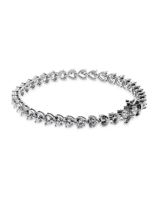 Carat* | Metallic Heart Tennis Bracelet | Lyst
