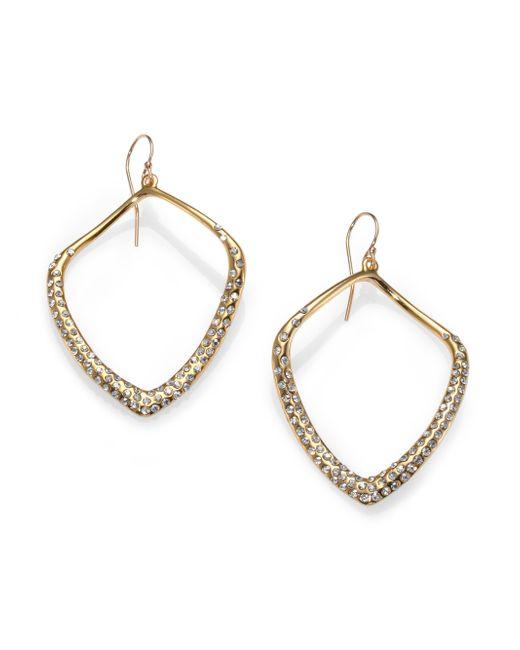 Alexis Bittar | Metallic Miss Havisham Liquid Crystal Kite Drop Earrings/goldtone | Lyst