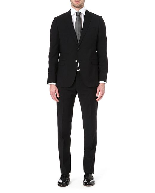 Armani | Black Virgin Wool Single-breasted Suit for Men | Lyst