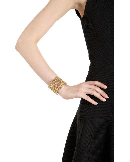 Aurelie Bidermann   Metallic 'vintage Lace' Cuff   Lyst