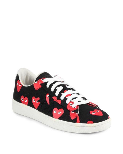 Comme des Garçons | Black Women's Heart-print Pro Sneakers | Lyst