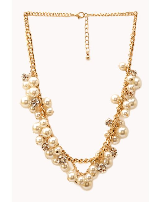 Forever 21 | Natural Luxe Lover Faux Pearl Necklace | Lyst