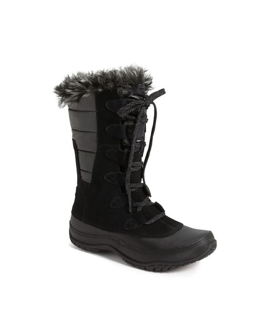The North Face   Black 'nuptse Purna' Waterproof Primaloft Eco Insulated Winter Boot   Lyst