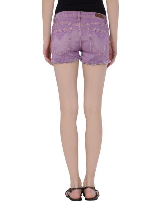 M2f Denim Shorts in Purple | Lyst