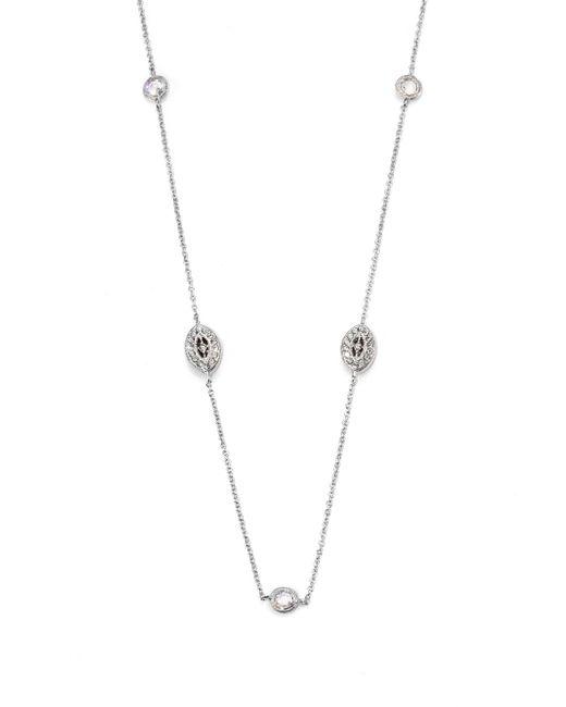 Adriana Orsini   Metallic Pavà Navette Double Wrap Necklace   Lyst