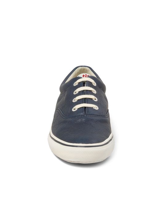 Brooks Brothers | Blue Superga® Leather Sneakers for Men | Lyst