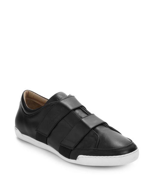 Calvin Klein   Black Low Top Double Strap Sneakers for Men   Lyst
