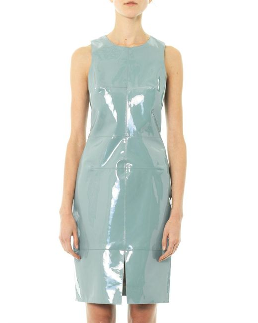 Richard Nicoll | Green Patent Leather Panel Dress | Lyst