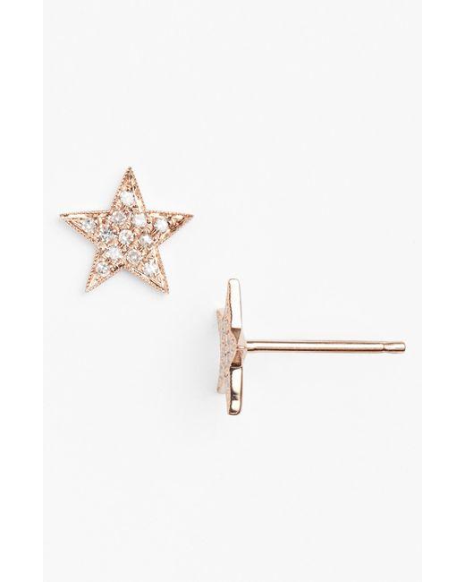 Dana Rebecca | Pink 'julianne Himiko' Diamond Star Stud Earrings | Lyst