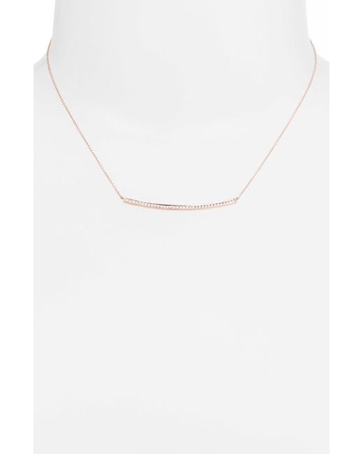 Dana Rebecca   Metallic 'sylvie Rose' Diamond Bar Pendant Necklace   Lyst