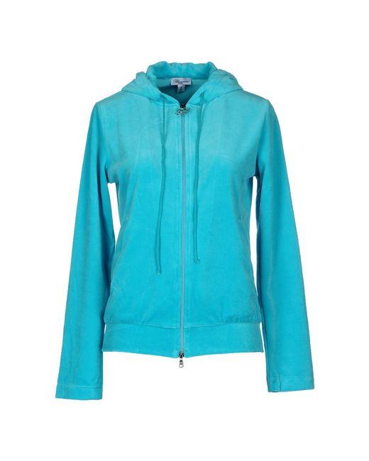 Blumarine | Blue Hooded Sweatshirt | Lyst