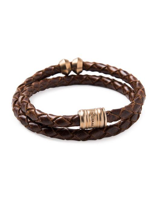 Miansai | Brown Brass Leather Casing Bracelet for Men | Lyst
