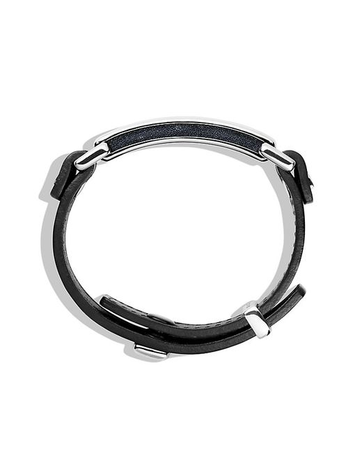 David Yurman | Pavé Id Bracelet With Black Diamonds In Black for Men | Lyst