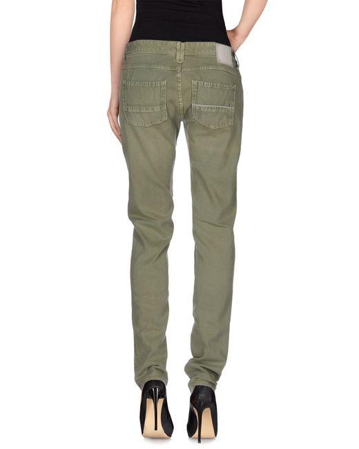 Care Label | Green Denim Trousers | Lyst